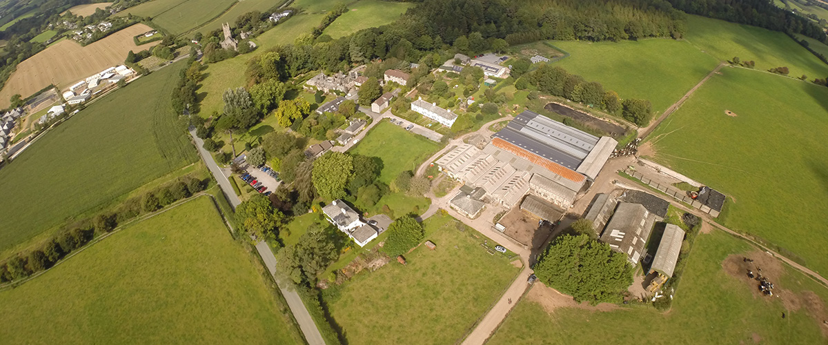 Old Parsonage Farm from the air