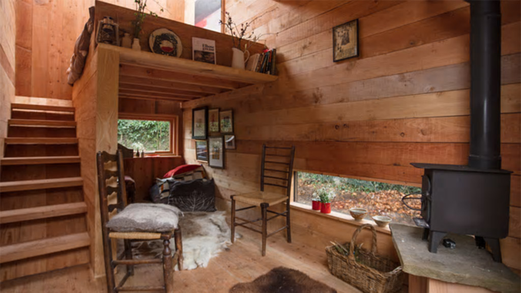 The tiny house created by Plymouth students