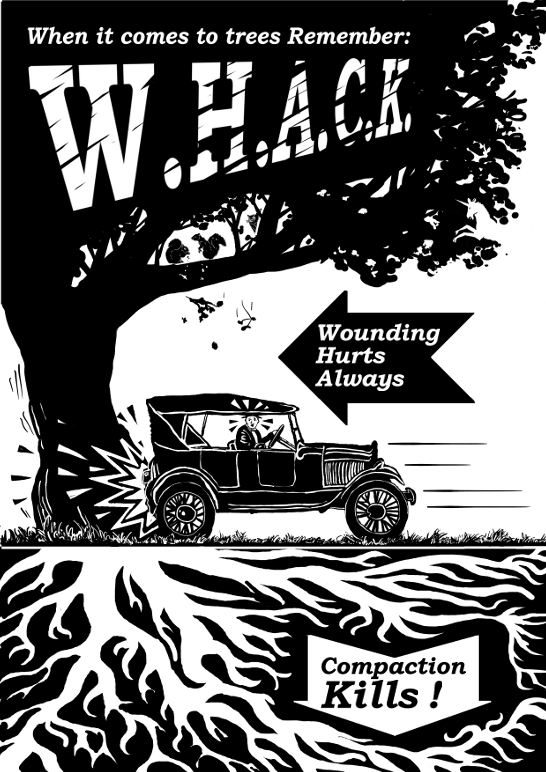 Whack Poster with squirrel
