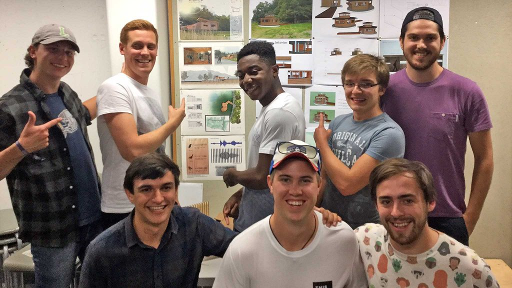 The Soundscape Bird Hide design winning team