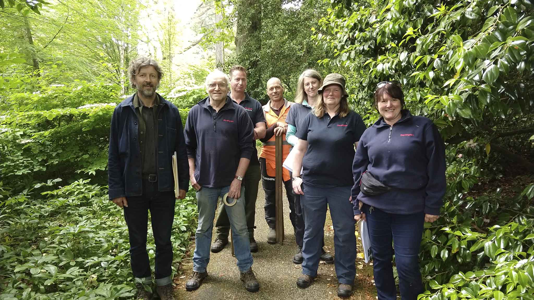 Gardens team with Dan Pearson (far left).