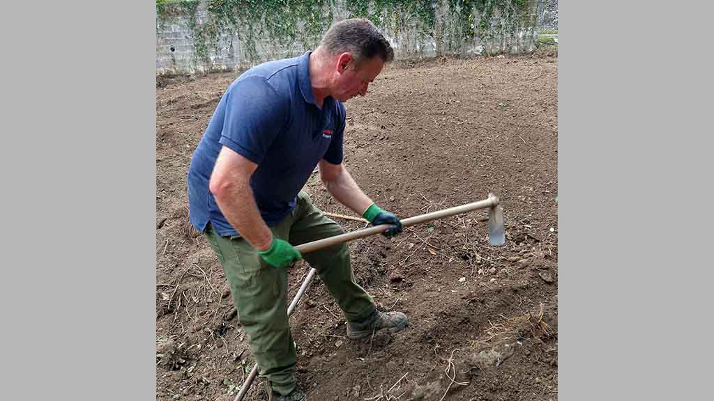 Richard going old skool and hands on with the mattock